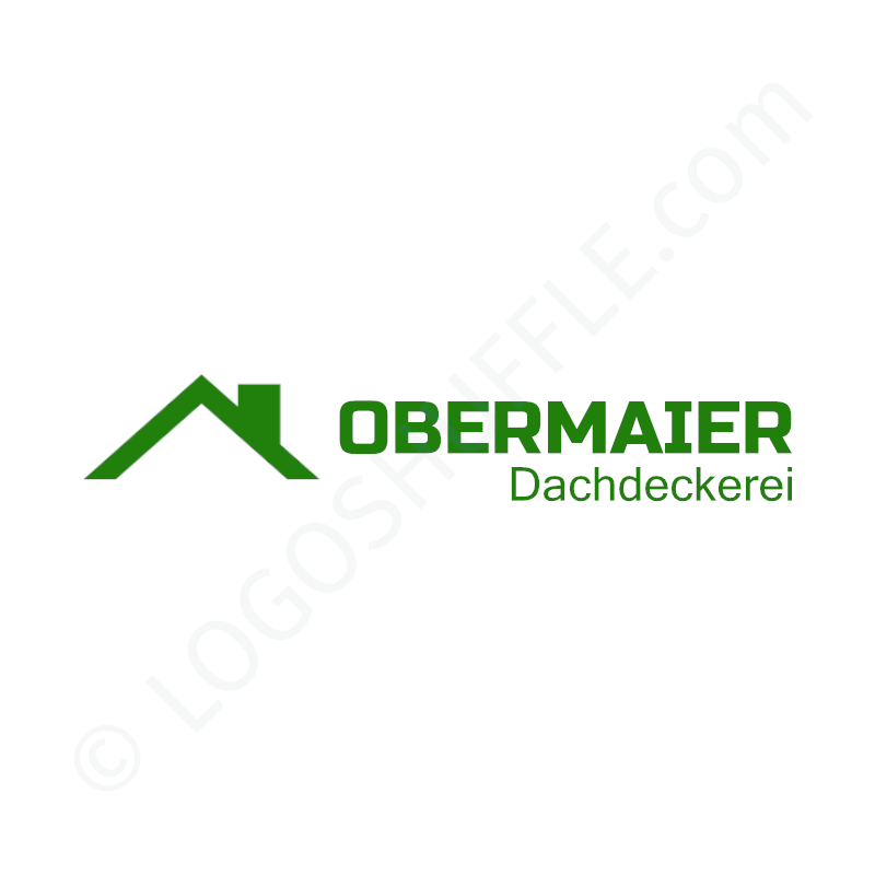 Logo idea: Company name with symbol left and slogan - logo design Example for craftsmen