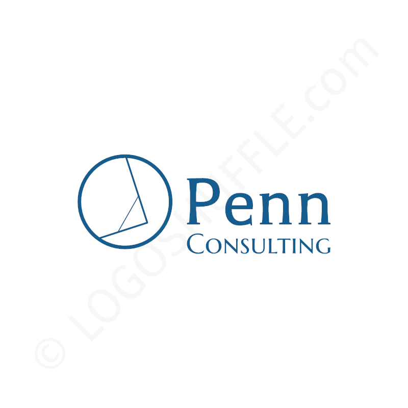 Logo Idea: Company name with symbol left and slogan - logo design Example for professionals