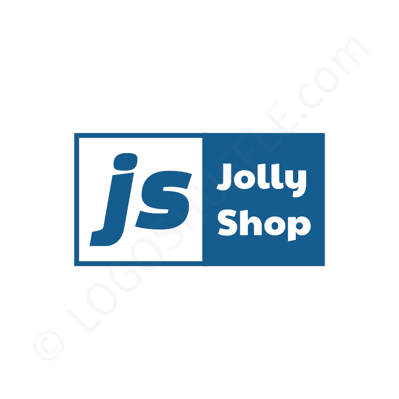 Logo idea: Company name with initials left -  logo design example for shops