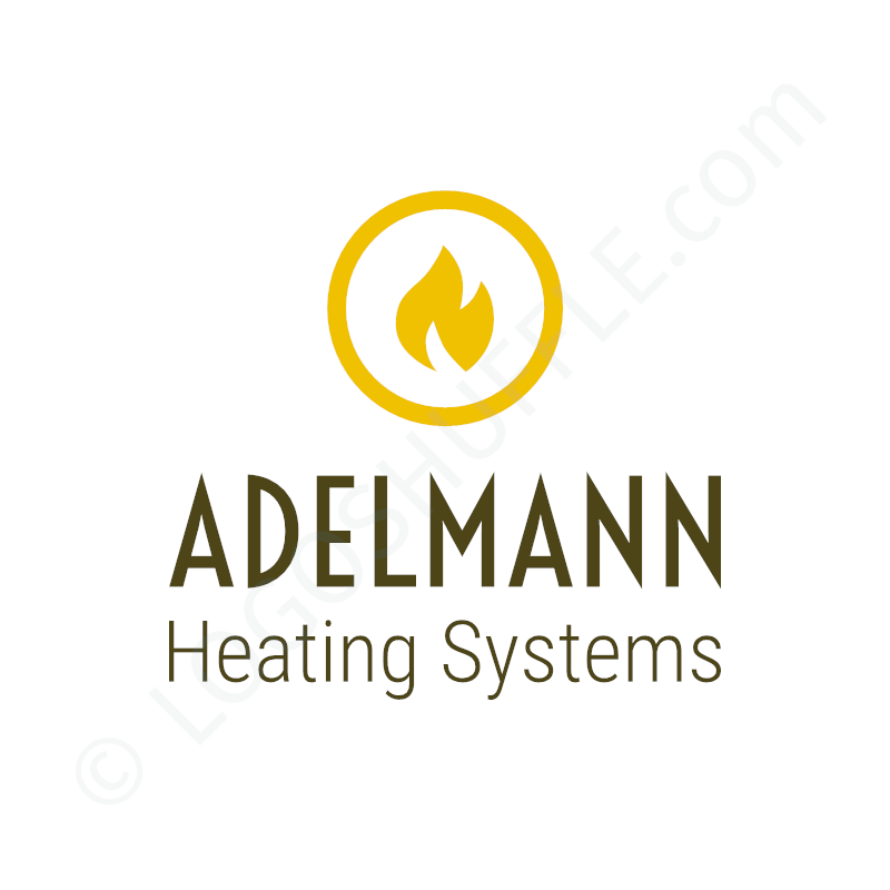 Logo idea: Company name with symbol above and slogan - logo design example for traders