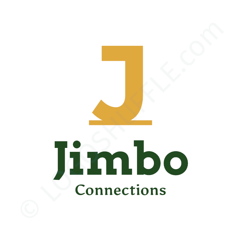 Logo idea: Company name with initials above and slogan - logo design example for startups