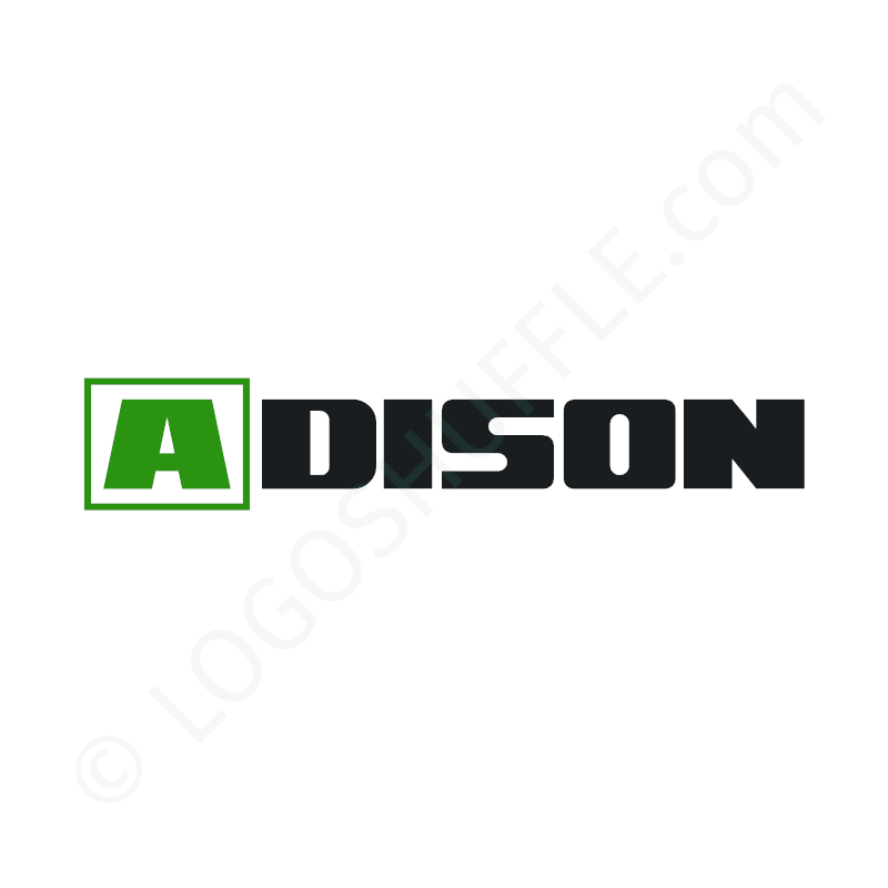 Logo Idea: Company name as font logo with initial in second color - Logo Design Example for companies