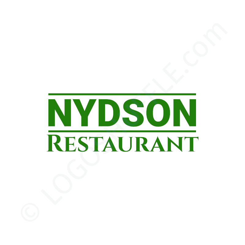 Logo idea: Company name with slogan without symbol - logo design example for restaurants