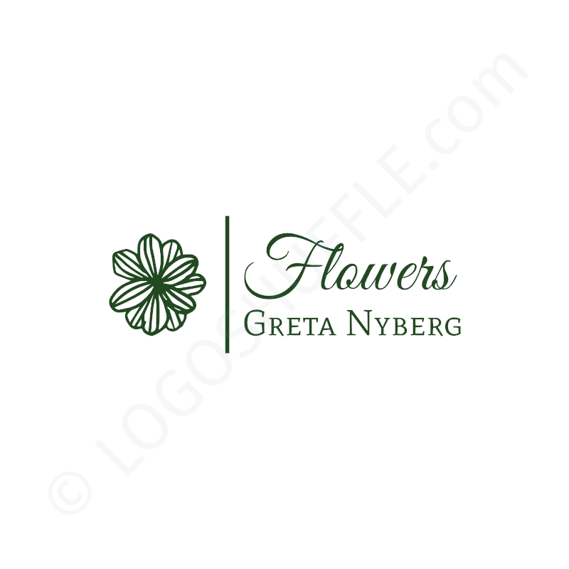 Logo idea: company name with symbol left and slogan - logo design example for business